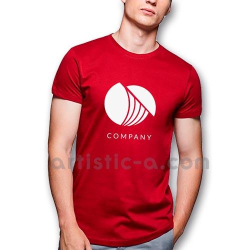Camiseta de algodón serigrafiada 1 tinta
