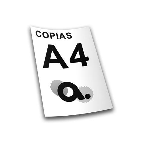 Copias y Fotocopias A4 blanco y negro