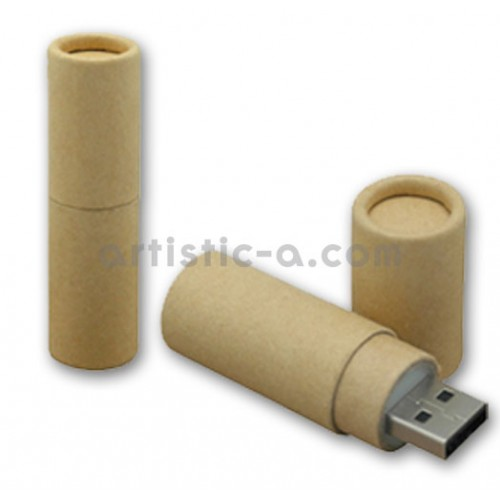 Pendrive cartón cilindrico