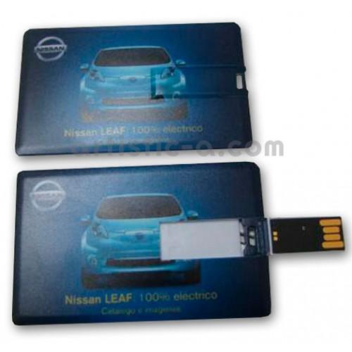 Tarjeta USB impresa a todo color