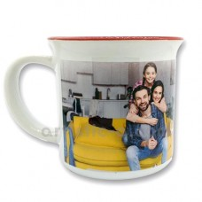 Taza personalizada con borde de color