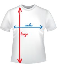 medidas camiseta personalizada